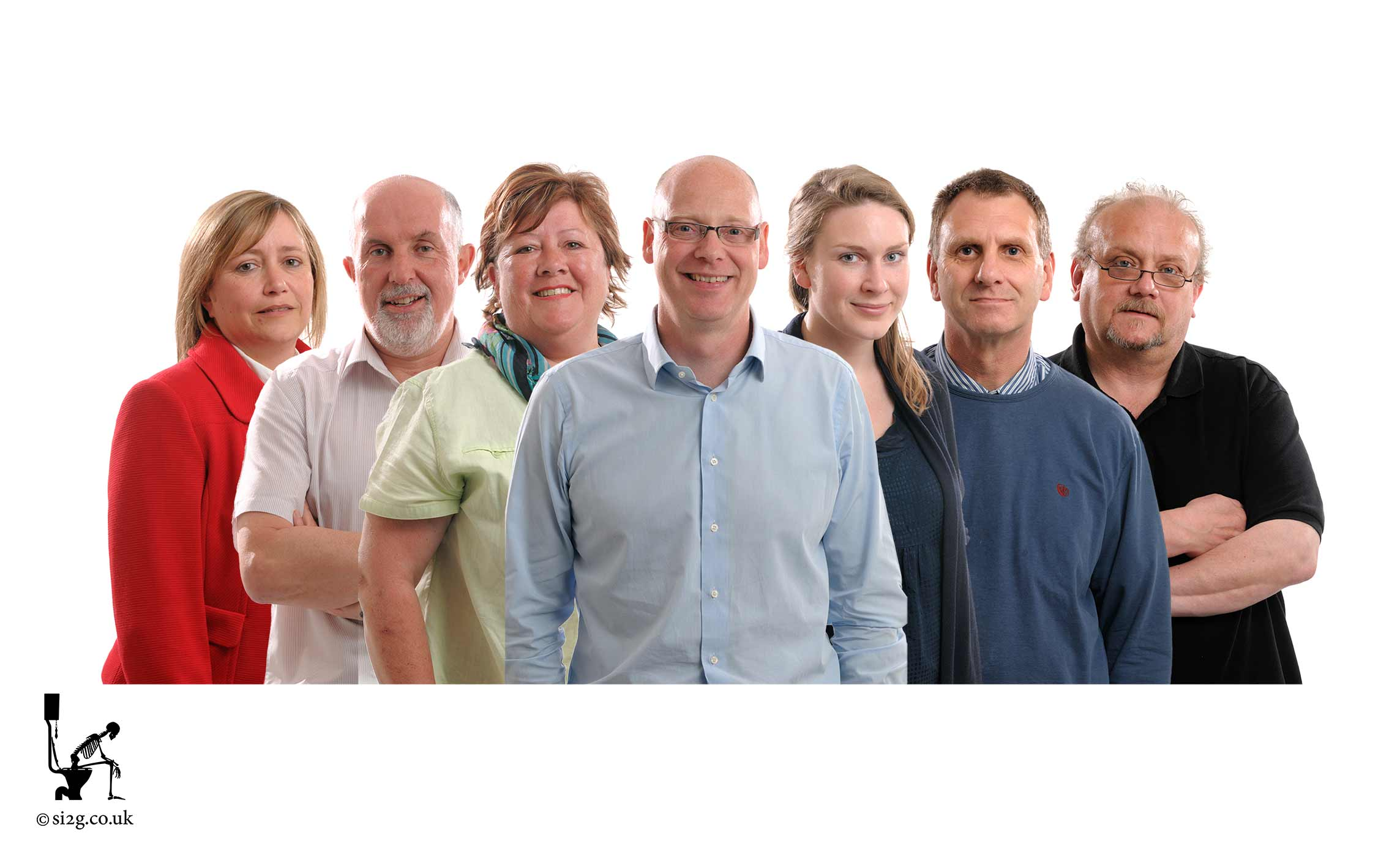 Team Composite - This group photo composite is a great way to promote your team and causes a lot less disruption to your company